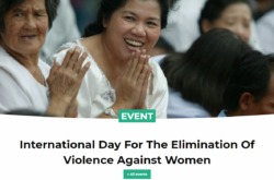 Int. Day For The Elimination Of Violence Against Women Nov 25